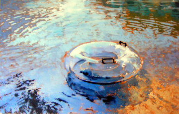 Float 2011 54x84 Original Painting - Kim Starr