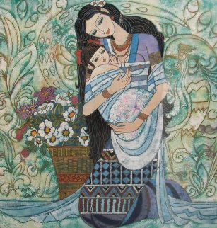Mother And Child 1990 Limited Edition Print - Shao Kuang Ting