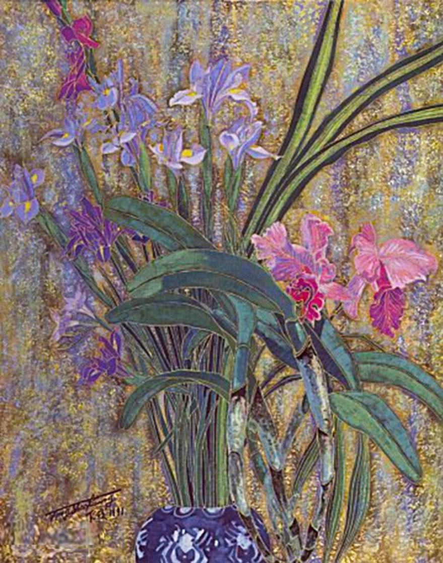 Morning Flowers 1992 Limited Edition Print by Shao Kuang Ting