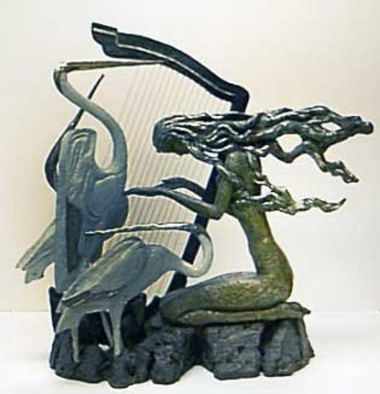 Harmony Bronze Sculpture 23 in by Shao Kuang Ting