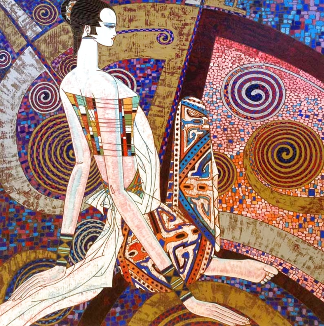 Golden Empress 1990 Limited Edition Print by Shao Kuang Ting