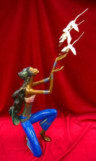 Flight Bronze Sculpture 1989 Sculpture by Shao Kuang Ting