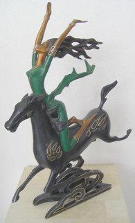 Superhorse Bronze Sculpture AP 1991 Sculpture by Shao Kuang Ting