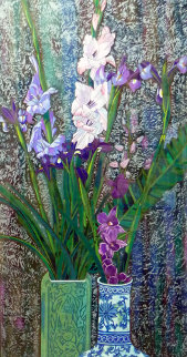 Orchids And Irises Deluxe Limited Edition Print - Shao Kuang Ting