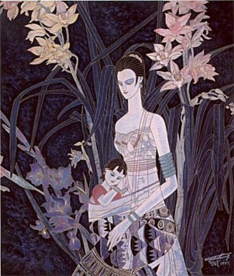Mother's Flower 1997 Limited Edition Print by Shao Kuang Ting