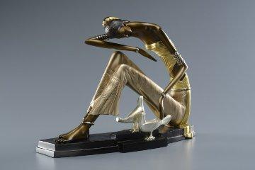 Ancient Civilization Bronze Sculpture 2014 22 K gold Sculpture - Shao Kuang Ting