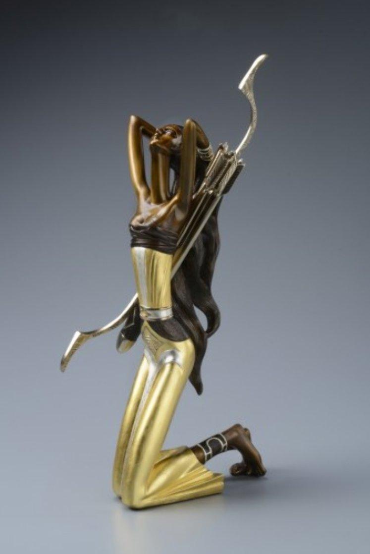 Huntress Bronze Sculpture 2014 22 c gold Sculpture by Shao Kuang Ting