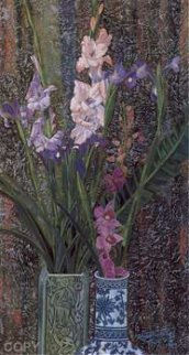 Orchids and Irises Limited Edition Print by Shao Kuang Ting