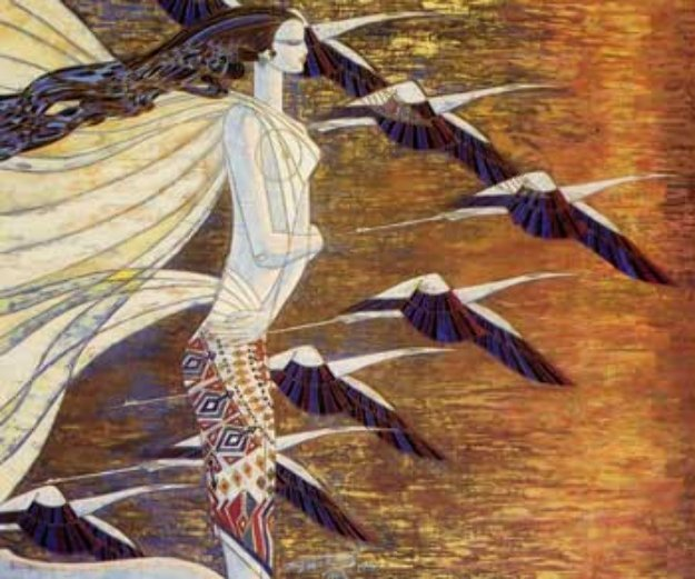 Crane And Sunlight 1991 Limited Edition Print by Shao Kuang Ting