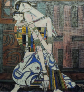 Mother And Child 1986 Limited Edition Print by Shao Kuang Ting