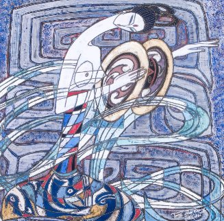Peaceful Harmony 1986 51x52 Original Painting - Shao Kuang Ting