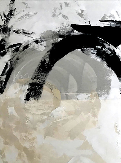 Untitled Painting 2019 48x36 Original Painting by Jerzy Kubina