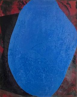 Blue Space 2020 24x18 Original Painting - Jerzy Kubina