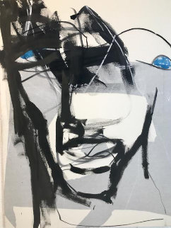 Blue Eyes 2020 36x48 Original Painting - Jerzy Kubina