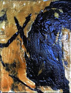 Untitled Abstraction 10x8 Original Painting - Jerzy Kubina