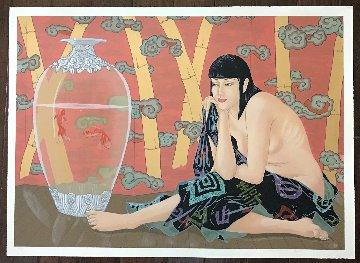 Goldfish 30x42  Huge Limited Edition Print - Muramasa Kudo