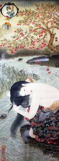 Cherry Blossoms Watercolor 1983 53x23 Super Huge Original Painting - Muramasa Kudo