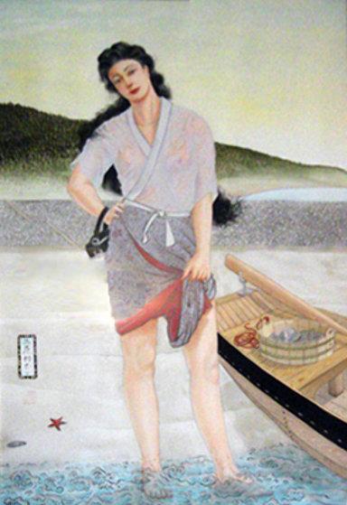 Untitled Watercolor 1987 53x39 Watercolor by Muramasa Kudo