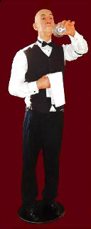 Curly the Butler Silicone Sculpture 74 in Life Size Sculpture - Tom Kuebler
