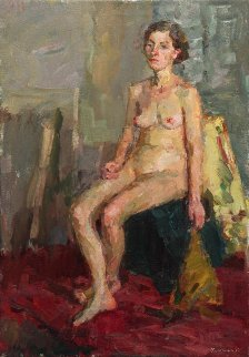 Study Nude 38x27 Super Huge  Original Painting - Olga Kulagina