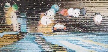 Untitled Painting 2015 37x55 Huge Original Painting - Shay Kun