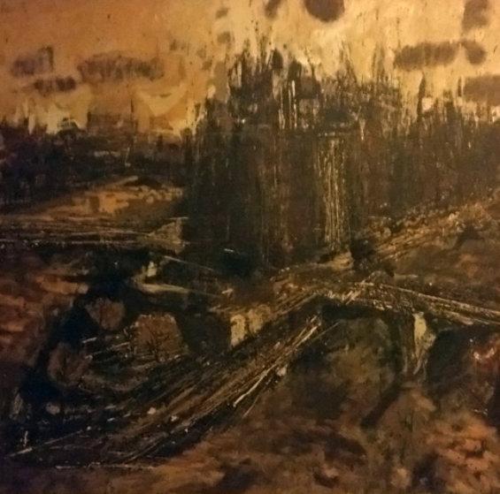 Ile De La Cite, No. 1 1955 37x37 Original Painting by Roger Edward Kuntz