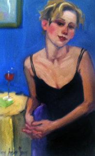 Guess Again 2000 18x25  Original Painting - Linda Kyser Smith