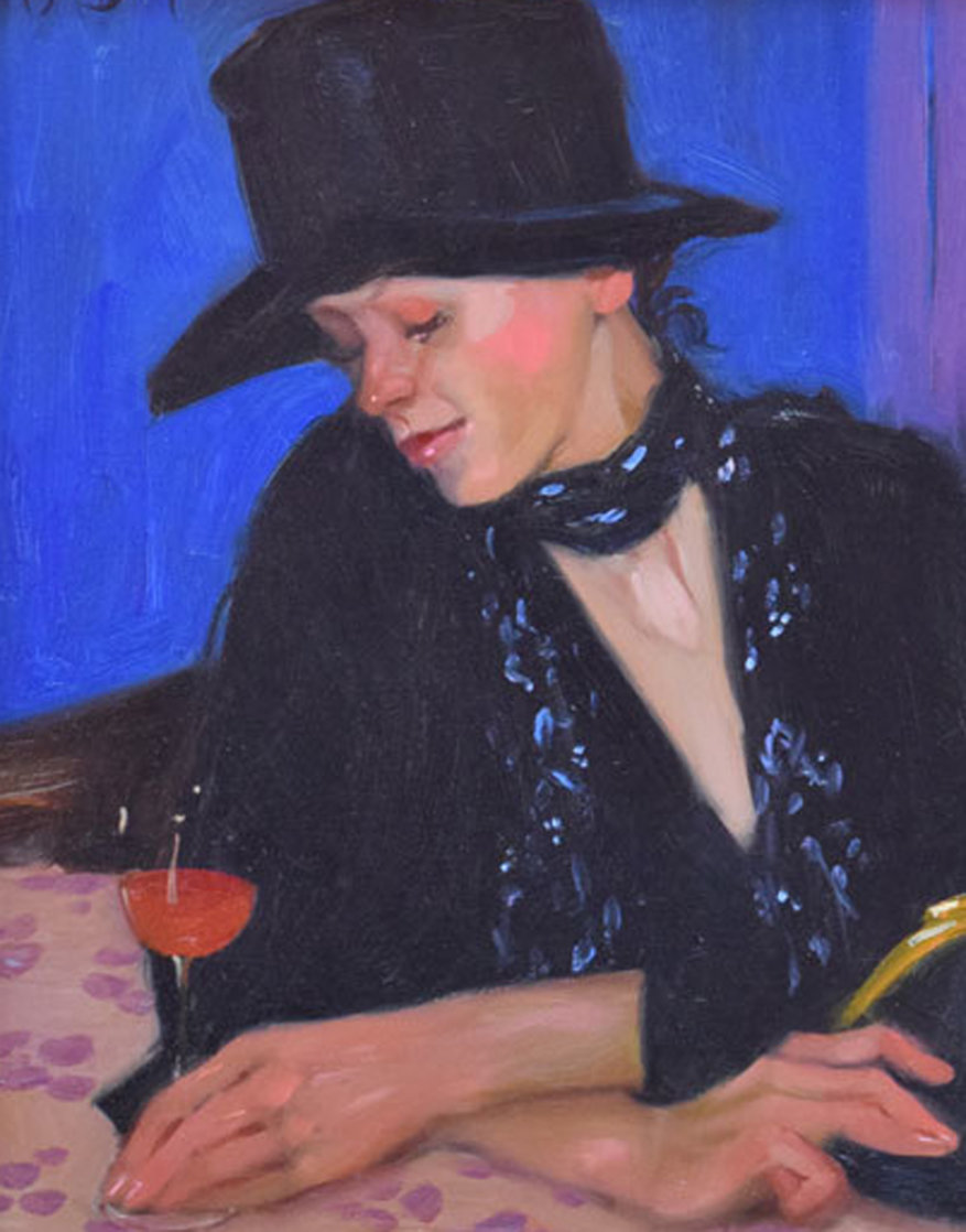 Last Call 2011 19x23 Original Painting by Linda Kyser Smith