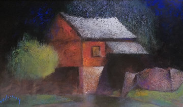 Cuttalossa Mill 2013 32x44 Watercolor - Al Lachman
