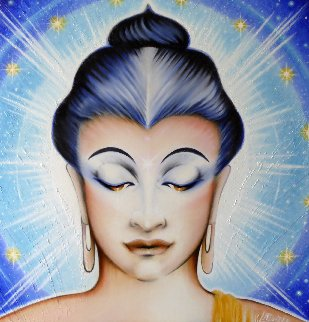 Lord Buddha 2015 42x42 Original Painting - Marlis Laduree