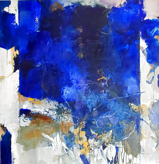 Composition V 48x48 Super Huge Original Painting - Jean-Pierre Lafrance