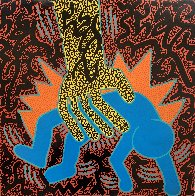 Untitled Haring Poster 2019 16x16 Works on Paper (not prints) by  LAII / Little Angel - 0