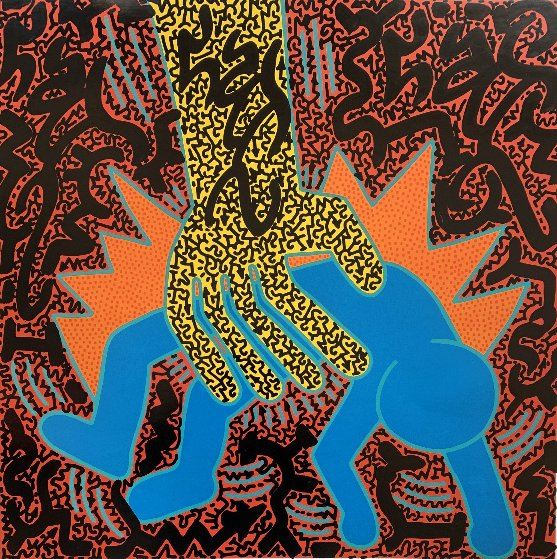 Untitled Haring Poster 2019 16x16 Works on Paper (not prints) by  LAII / Little Angel