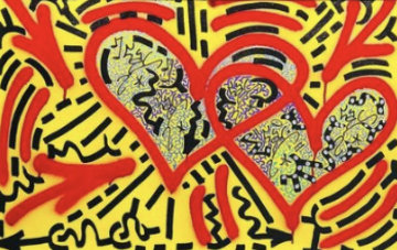 Two Hearts   2017 36x24 Original Painting -  L.A. II Little Angel