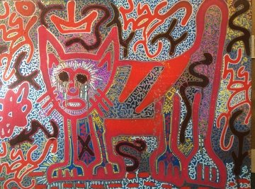 Big Red Cat 2013 36x48 Original Painting -  L.A. II Little Angel