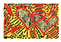 Two Hearts   2017 36x24 Original Painting by  LAII / Little Angel - 1