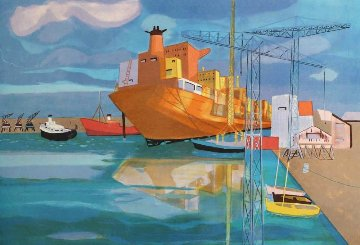 Freighter 2000  Limited Edition Print by Georges Lambert
