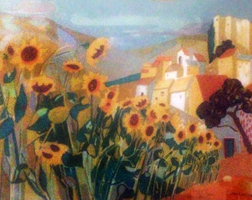 Sunflowers Limited Edition Print by Georges Lambert