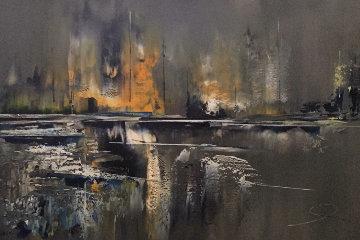Untitled Painting 1972 55x31 Super Huge Original Painting - Les Lambson
