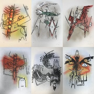 Le Feu Vert (Portfolio With 6 Lithographs) 1974  Limited Edition Print - Wifredo Lam