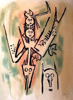 Untitled Lithograph  Limited Edition Print by Wifredo Lam