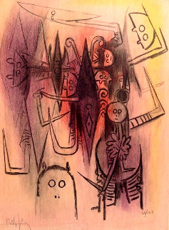 Clairiere: Pleni Luna 1974 Limited Edition Print by Wifredo Lam