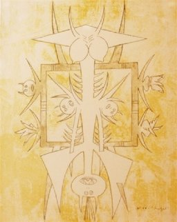 Untitled (No. 44 - Quetzal) 1975 Limited Edition Print by Wifredo Lam