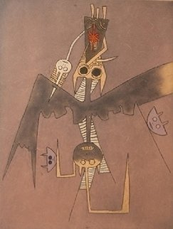 Untitled (From Dessins) Purple 1975 Limited Edition Print by Wifredo Lam