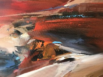 Untitled Landscape 1969 35x23 Original Painting by Wilfred Lang