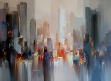 Skyline 35x47 Original Painting - Wilfred Lang