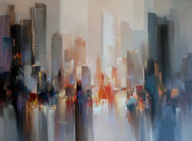 Skyline 35x47 Original Painting by Wilfred Lang
