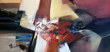 Untitled 24x47 Original Painting - Wilfred Lang