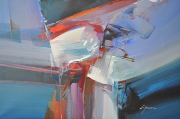Untitled Painting (Abstract) 30x40 Original Painting by Wilfred Lang