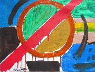 Abstract 13x17 Original Painting by Peter Lanyon - 2